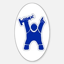 Trophy Guy Oval Decal