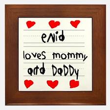 Enid Loves Mommy and Daddy Framed Tile