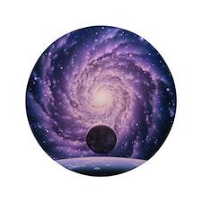 "Milky Way galaxy 3.5"" Button"