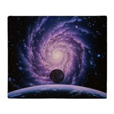 Milky Way galaxy Throw Blanket