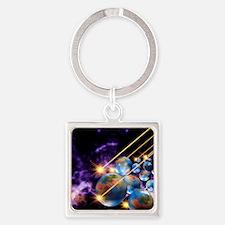 Multiple universes Square Keychain