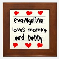 Evangeline Loves Mommy and Daddy Framed Tile