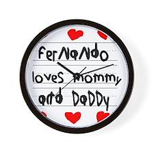 Fernando Loves Mommy and Daddy Wall Clock