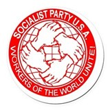 Socialist Round Car Magnets