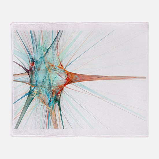 Nerve cell, abstract artwork Throw Blanket