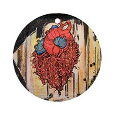 Creatures Heart Round Ornament