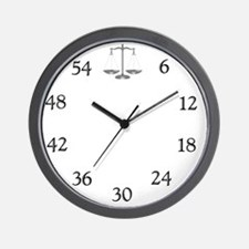 lawyerclock14-3 Wall Clock