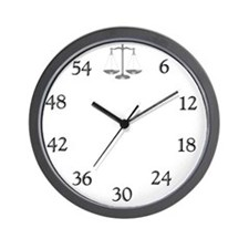 lawyerclock15-5 Wall Clock