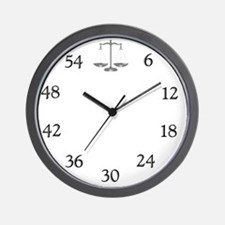 lawyerclock15-5 Wall Clock
