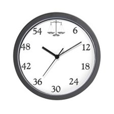 lawyerclock12-3 Wall Clock