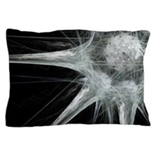 Nerve cell, abstract artwork Pillow Case