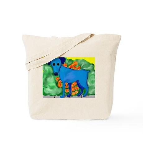 Blue Min Pin Tote Bag