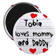 Tobia Loves Mommy and Daddy Magnet