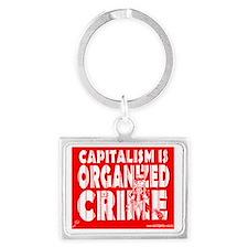 Capitalism Is Organized Crime Landscape Keychain