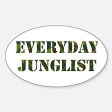 Everyday Junglist Oval Decal