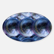 Parallel universes Sticker (Oval)