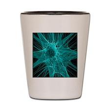 Nerve cells, abstract artwork Shot Glass