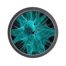 Nerve cells, abstract artwork Wall Clock