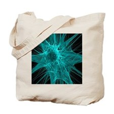 Nerve cells, abstract artwork Tote Bag