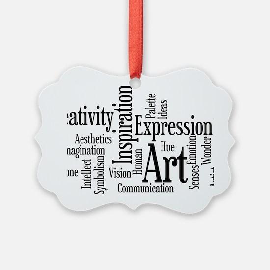 Art Word Cloud Picture Ornament