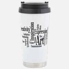 Art Word Cloud Travel Mug