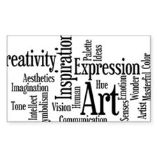 Art Word Cloud Decal