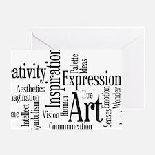 Art Word Cloud Greeting Card