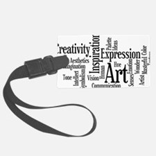 Art Word Cloud Luggage Tag