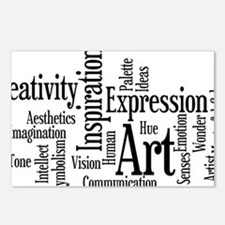 Art Word Cloud Postcards (Package of 8)