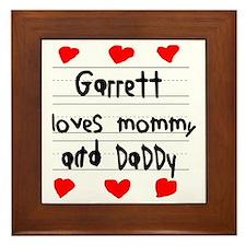 Garrett Loves Mommy and Daddy Framed Tile