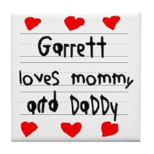 Garrett Loves Mommy and Daddy Tile Coaster