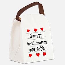 Garrett Loves Mommy and Daddy Canvas Lunch Bag