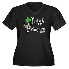 Irish Princess Women's Plus Size V-Neck Dark T-Shi