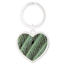 Penguin feather, SEM Heart Keychain