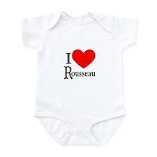 I Love Rousseau Infant Bodysuit