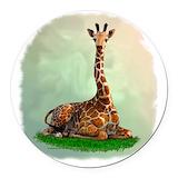 Giraffe Round Car Magnets
