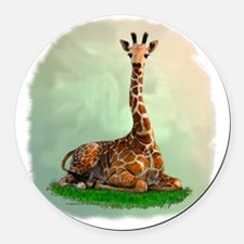 Giraffe Round Car Magnet
