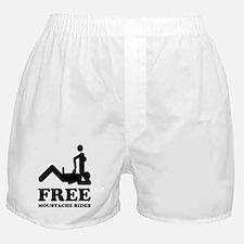 Free Moustache Rides Boxer Shorts