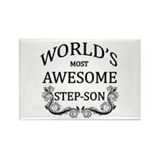 World's Most Awesome Step-Son Rectangle Magnet