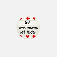 Gia Loves Mommy and Daddy Mini Button