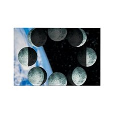 Phases of the Moon Rectangle Magnet