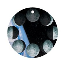 Phases of the Moon Round Ornament
