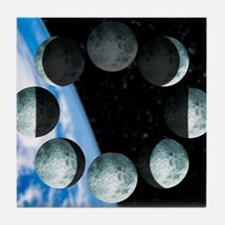 Phases of the Moon Tile Coaster