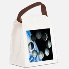 Phases of the Moon Canvas Lunch Bag