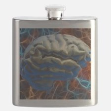 Neural network, computer artwork Flask