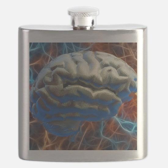 Neural network, computer artwork Flask
