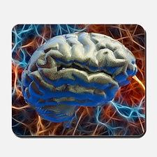 Neural network, computer artwork Mousepad