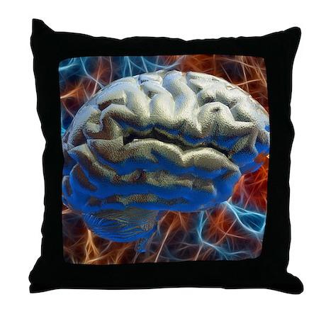 Neural network, computer artwork Throw Pillow