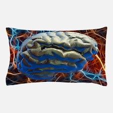 Neural network, computer artwork Pillow Case