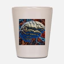 Neural network, computer artwork Shot Glass